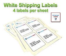 (400) 4x5 Postage Shipping Labels - Inkjet & Laser, 4 Labels Per Sheet