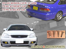 TR-Style Front Lip + Si Optional Style Rear Lip (Urethane) Fits 99-00 Civic 2dr