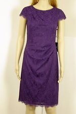NWT $140 Adrianna Papell Dress Purple Violet Lace Size 2 RARE!