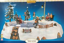 Lemax Carole Towne Christmas Musical Animated High Meadow Skating Pond