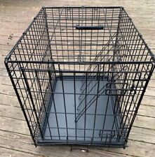 Small Folding Metal Dog Crate 20H x 18 W x 24 D with divider