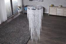 Elegante Lámpara Colgante Iluminación Estrás Claro Transparente 200cm x 55cm