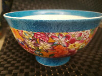 Chinese old porcelain Pastel blue and white porcelain bowl