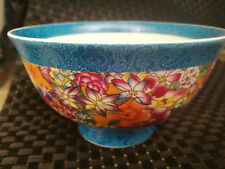 Chinese old porcelain Pastel blue and white porcelain bowl decoration