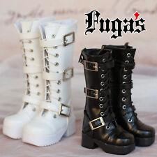 BJD Shoes White/Black Option 1/3 SD DZ BJD Dollfie Synthetic Leather Boots/Shoes