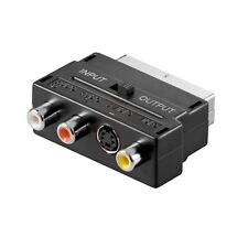 Scart Skart Adapter auf 1x S-VHS 4 polig 1x Video 2x Cinch Chinch Buchse Audio