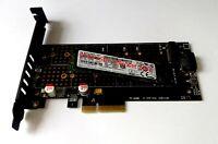 NGFF M.2 B Key + NVMe M Key PCI Express x4 Adapter Karte 3,3V + 12V für Mac Pro