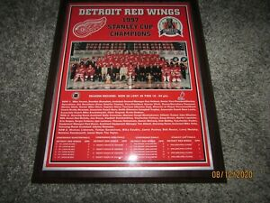 1997 Detroit Red WIngs Stanley Cup Champions Plaque