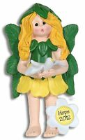 HOPE - Forest FAIRY PRINCES Personalized Christmas Ornament by Deb & Co RESIN