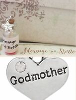 MESSAGE IN A BOTTLE DIAMANTÉ THANK YOU GODMOTHER GODFATHER CARD GIFT PRESENT
