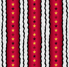 Peanut Snoopy Flying Ace Stripes Red Black Yellow 100% cotton fabric by the yard