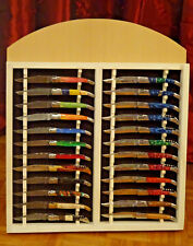 Messerständer-Messerpräsentation-Messerdisplay-Laguiole-Sammlermesser-Holz-Groß