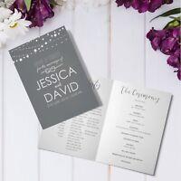 Personalised Wedding Order Of Service CardsLuxury Folded A5 Program Booklets