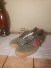 adidas Skateboarding Busenitz Vulc Shoes Green/Raw Amber/Gum4 B22773 Sz 14. New!