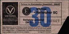 Ticket DFB-Pokal 86/87 Fortuna Düsseldorf - Karlsruher SC