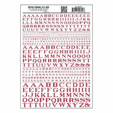 Letters Dry Transfer Sheet, Roman RR Red Dt - Woodland Scenics MG704