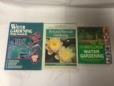 3x Water Gardening Books Pool and Waterside Mini Encyclopedia  Phillip Swindells