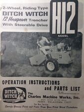 Ditch Witch H12 Riding 2 Wheel Trencher Owner Service Amp Parts Manual Utility 66