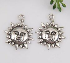 20pcs Zinc alloy Sun Charms Pendants 19*23mm 1A98