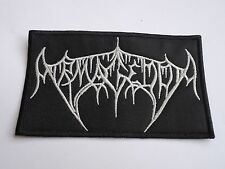 ARMAGEDDA OLD LOGO BLACK METAL EMBROIDERED PATCH