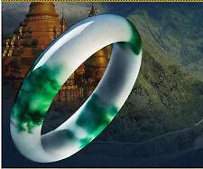 Fine Beautiful Chinese Natural White Green Jade Jadeite Bangle Bracelet