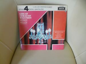 DISQUE 33 T   WERNER MULLER - GREAT STRAUSS WALTZES, RECORD VINYL LP