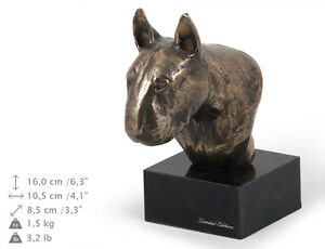 Bull Terrier smaller statue, dog bust marble statue, ArtDog Limited Edition, AU