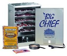New Smokehouse Big Chief 9894 Front Load Electric 5 Grill Bbq Meat Smoker Cooker