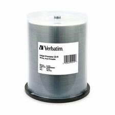Verbatim 95252 CD-R 52x 80Min Disc 700MB White Hub Printable, 100 Pack Spindle
