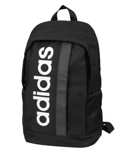 Adidas Linear Core Backpack Sports Bag School Travel Black DT4825