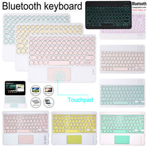 "Wireless Bluetooth Keyboard Touchpad For Apple iPad Air 4 10.9"" 2020 10.5"" 10.2"""