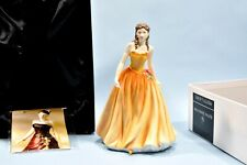 """Nos Royal Doulton Girl Figurine """"Rebecca"""" Hn4768 Mint Condition w/Box & Papers"""
