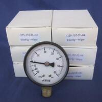 """Lot 8 Acutek Air Pressure Utility Gauge  200 PSI 1.5/"""" Dial 1//8/"""" NPT Back mount"""