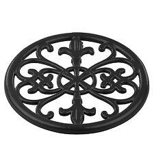 """Home Basics Cast Iron Classic Fleur De Lis Trivet Black 8"""" x 8"""" x 1/2"""""""