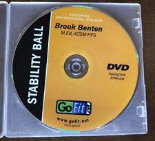 Go Fit Stability Ball Brook Benten DVD Only