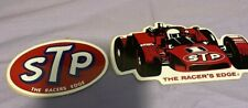 STP 2 VINTAGE THE RACERS EDGE RACING STICKERS DECALS NASCAR NHRA PETTY NOS