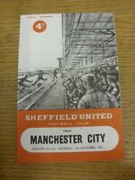 11/11/1961 Sheffield United v Manchester City  (creased, rusty staple). Thanks f