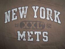 Mlb New York Mets Baseball Team Brown Graphic Print T Shirt L