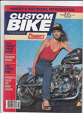 Vintage CUSTOM BIKE Magazine November 1982