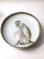 Porcelain Safari Plates Made With Real Gold Set of 4