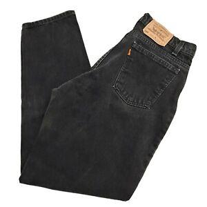 Vtg Levis 560 4159 Orange Tab Black Jeans Size  33x30 USA Loose Fit Tapered Leg