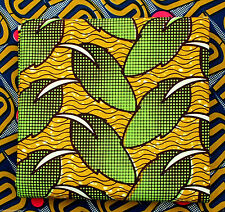 African Wax Print Superior Quality Cotton Fabric 4 Crafts & Dresses per Yard
