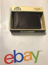 Men's brown slim fold wallet Dopp Hudson RFID Blocking Front Pocket New In Box