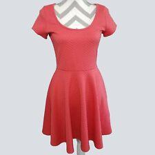 Banana Lemon Womens Coral Textured Stretch Fit and Flare Dress M Medium kfp1