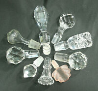 Vintage Bottle Stopper ONE Cut Glass Lead Crystal Frosted Decanter Perfume