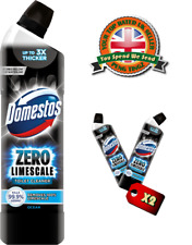 X 2 Domestos zero limescale toilet cleaner ocean power  750ml each