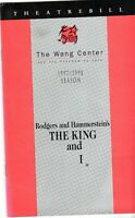 COLLECTIBLE: (1997) Program The King and I (Hayley Mills) (Wang Center Boston)