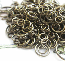 Brass Ox Plated Jump Ring Mix 5-12mm 200 pieces