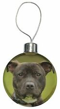 Staffordshire Bull Terrier Christmas Tree Bauble Decoration Gift, AD-SBT12CB