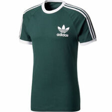 Camisetas de hombre de manga corta verde adidas